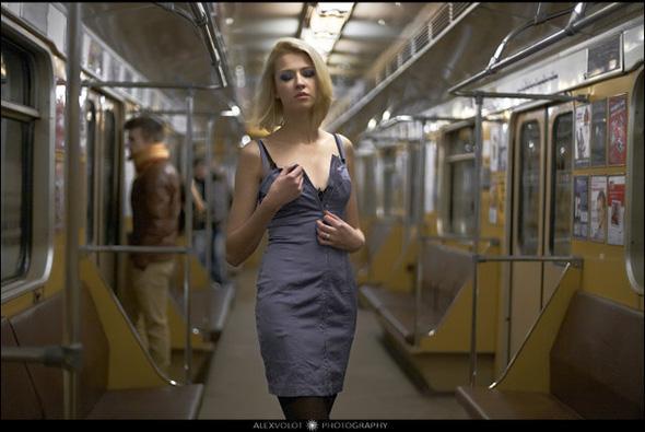 Girl nude metro