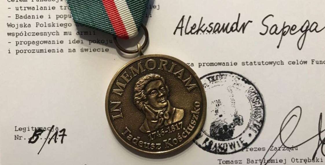 Kosciuszko Foundation awards medal to Association of